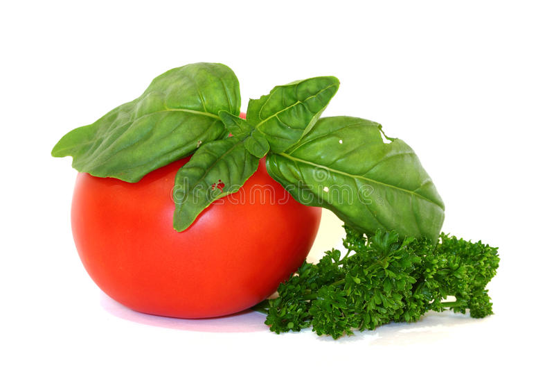 Herbes et tomate italiennes photo libre de droits