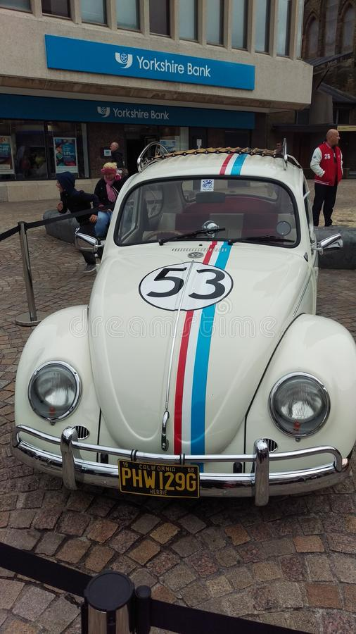 Herbie in Blackpool royalty free stock photography