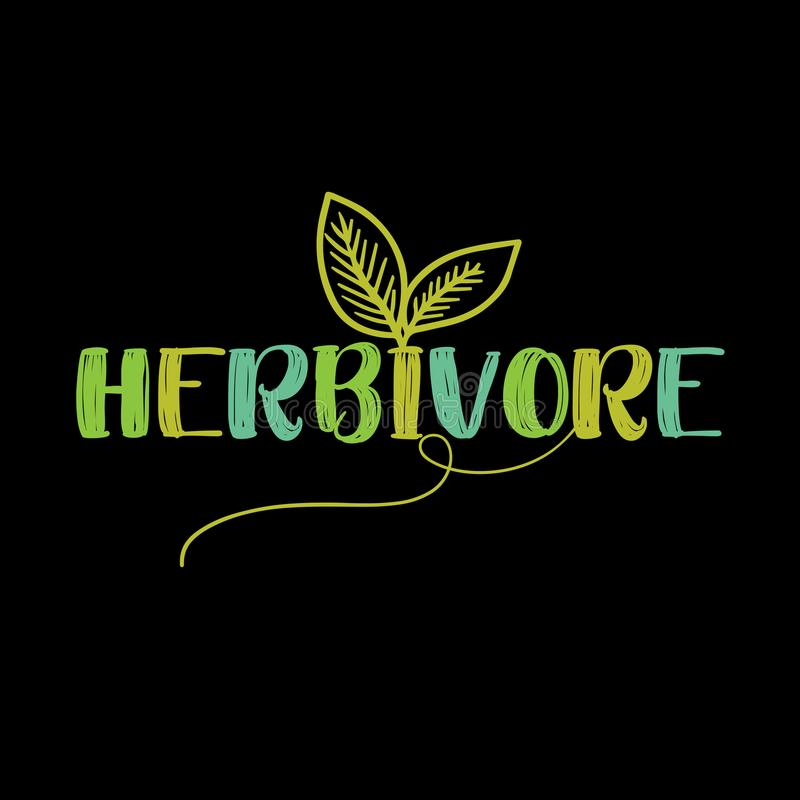 Free Herbivore - Funny Vegan Motivation Royalty Free Stock Photos - 120024218
