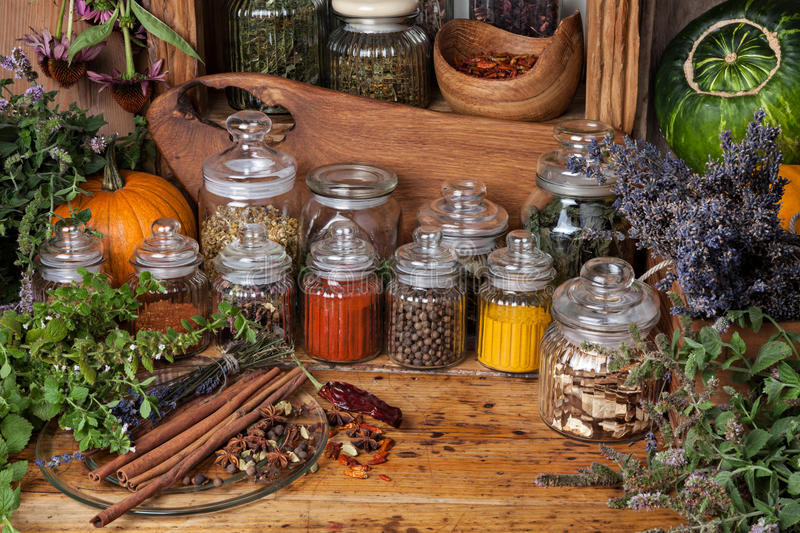 Herbs and spice royalty free stock image