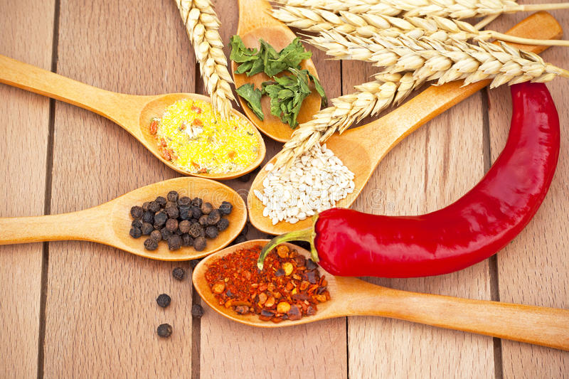 Download Herbs and spices stock image. Image of choice, table - 28221921