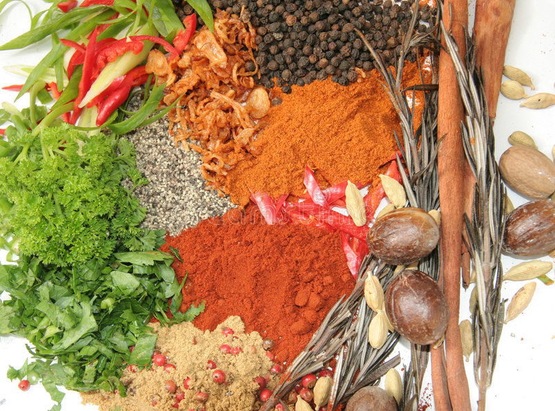 Download Herbs and spices stock photo. Image of nutmeg, ingredients - 7716474