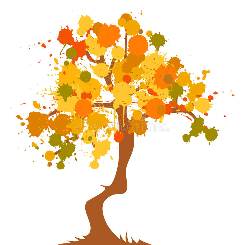 Herbst - abstrakter Baum stock abbildung