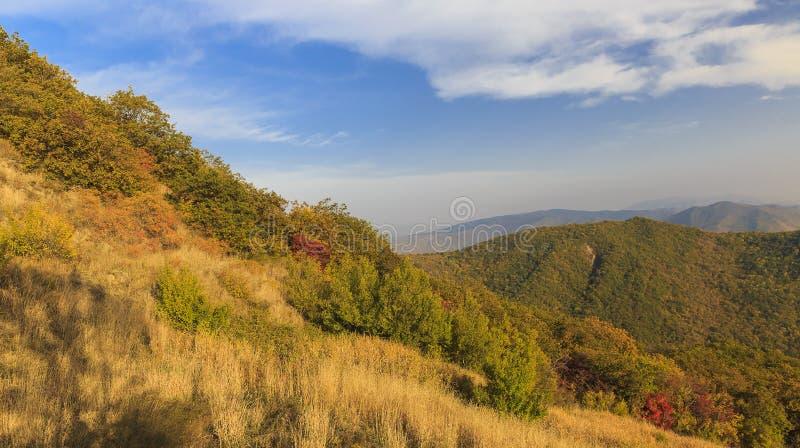Herbst auf Ahsu-Durchlauf azerbaijan stockfoto