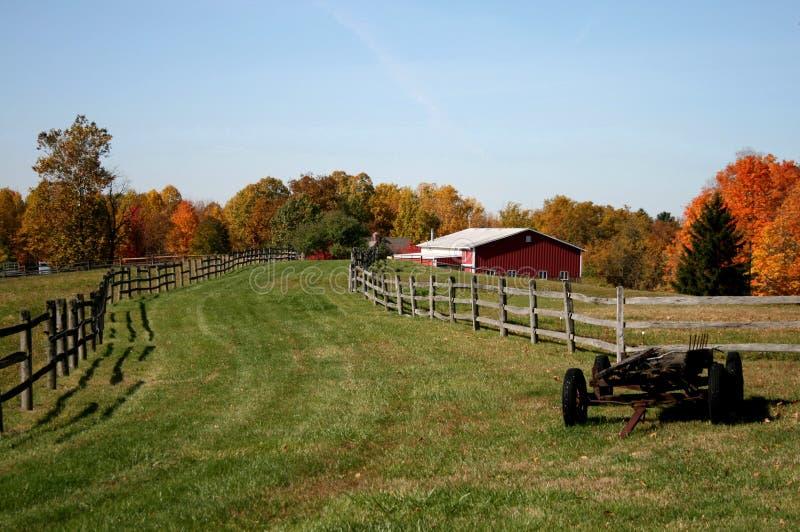 Herbst auf dem Bauernhof lizenzfreies stockbild