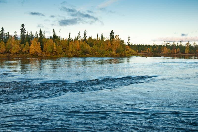 Herbst auf der Tundra stockfoto