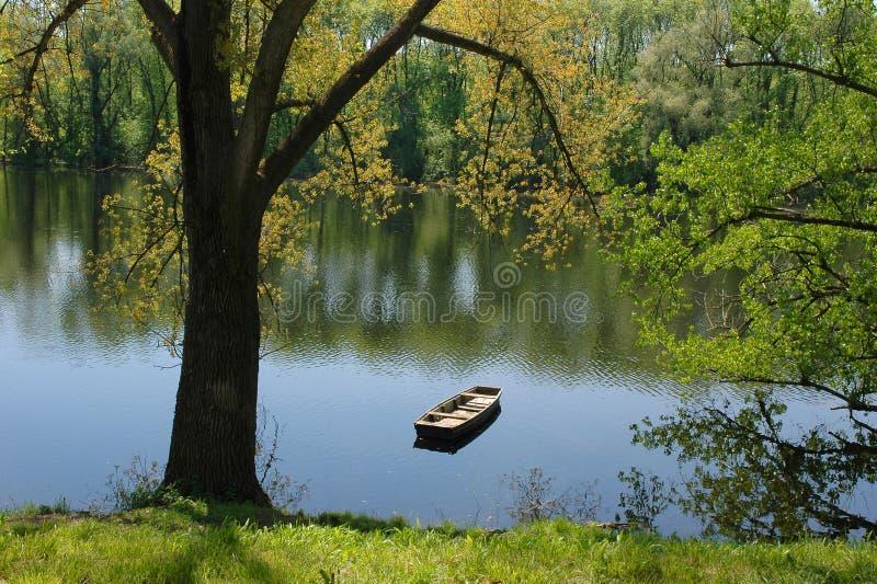 Herbst auf Fluss lizenzfreies stockbild