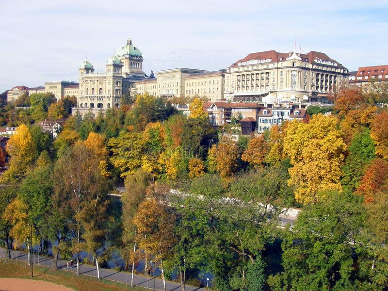 Herbst in Bern lizenzfreie stockfotos