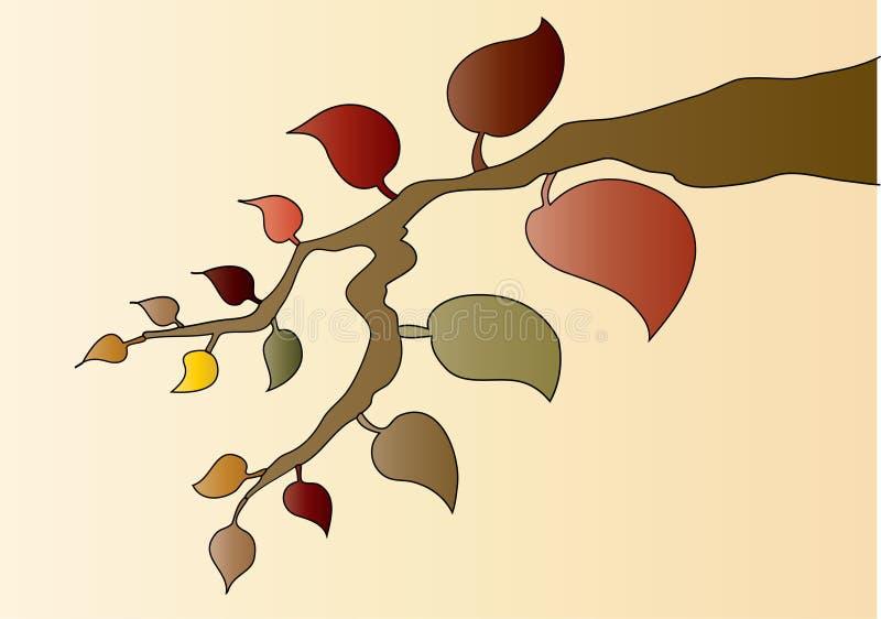 Herbst-Blätter stock abbildung