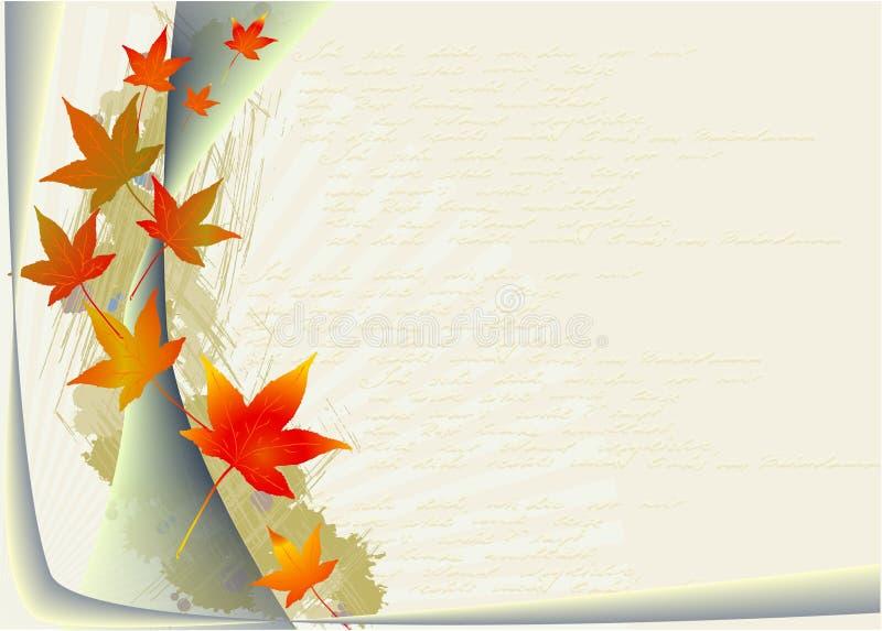 Herbst-Blätter lizenzfreie abbildung