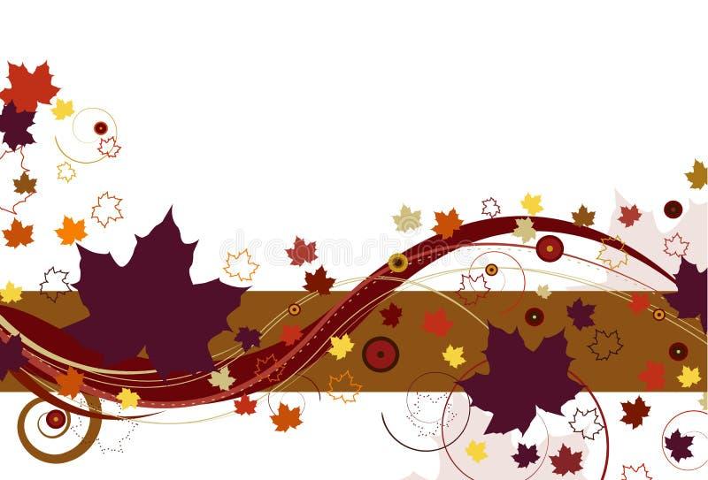 Herbst-Blätter im Purpur lizenzfreie abbildung