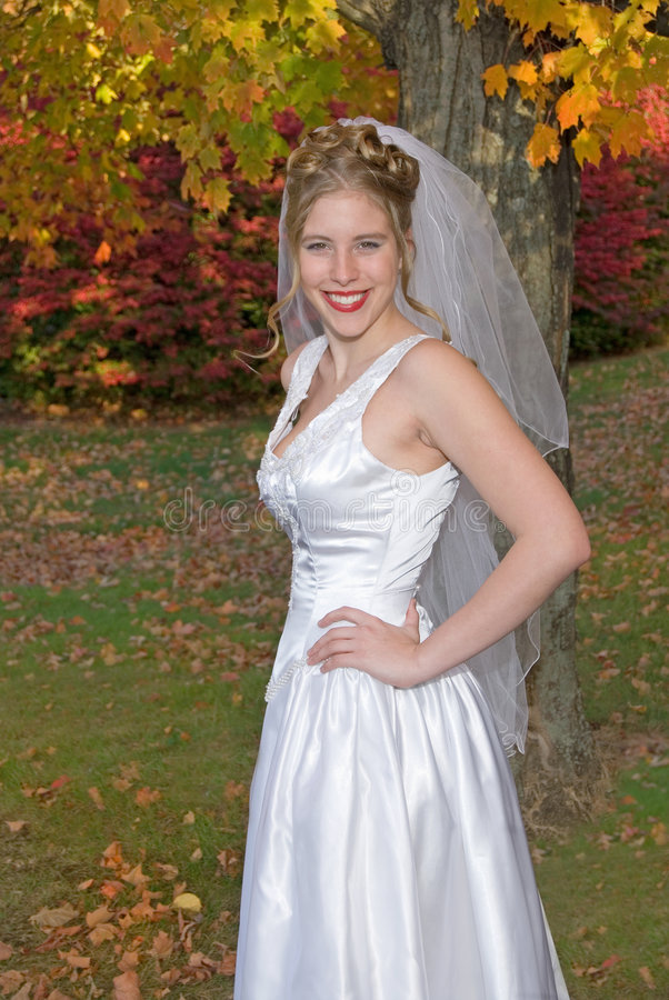 Herbst-Braut lizenzfreies stockfoto
