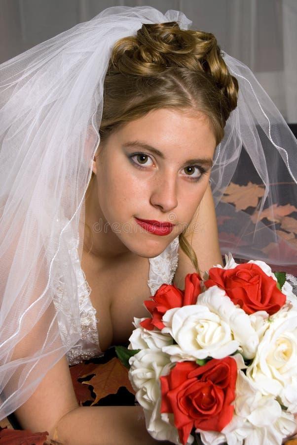 Herbst-Braut stockbilder