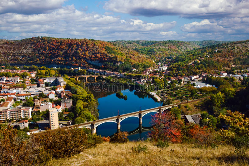 Herbst in Cahors, Frankreich stockfoto