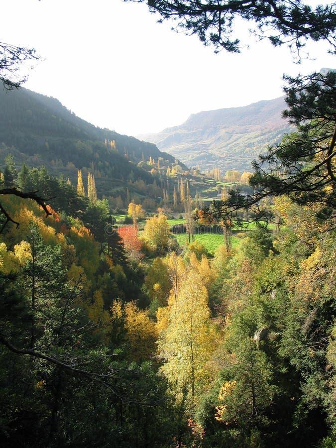 Herbst in den Pyrenees stockfotos