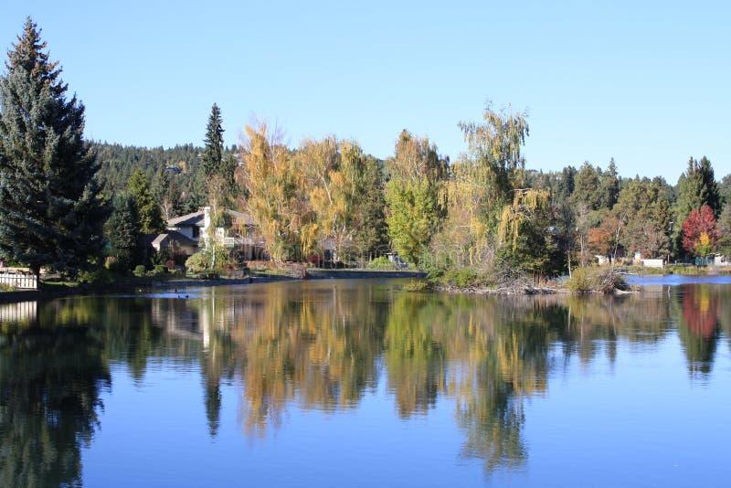 Herbst in der Schlaufe, Oregon lizenzfreies stockbild
