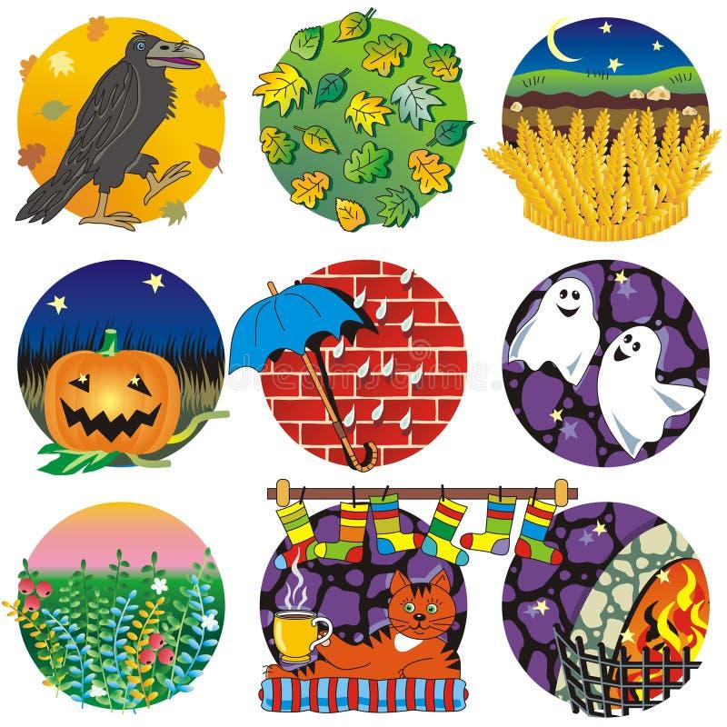 Herbst, Ernte, Halloween stock abbildung
