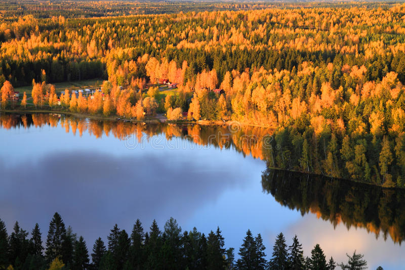 Herbst-Farben in Finnland 8 stockfoto