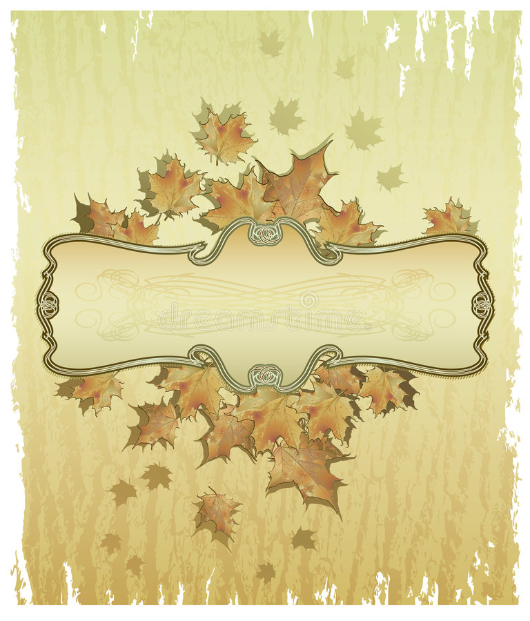 Herbst-Feld stock abbildung