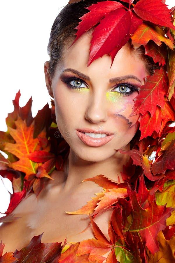 Herbst-Frau. lizenzfreies stockfoto