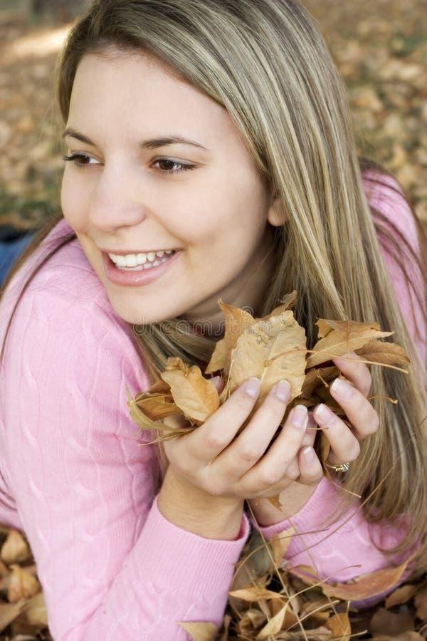 Herbst-Frau lizenzfreies stockbild