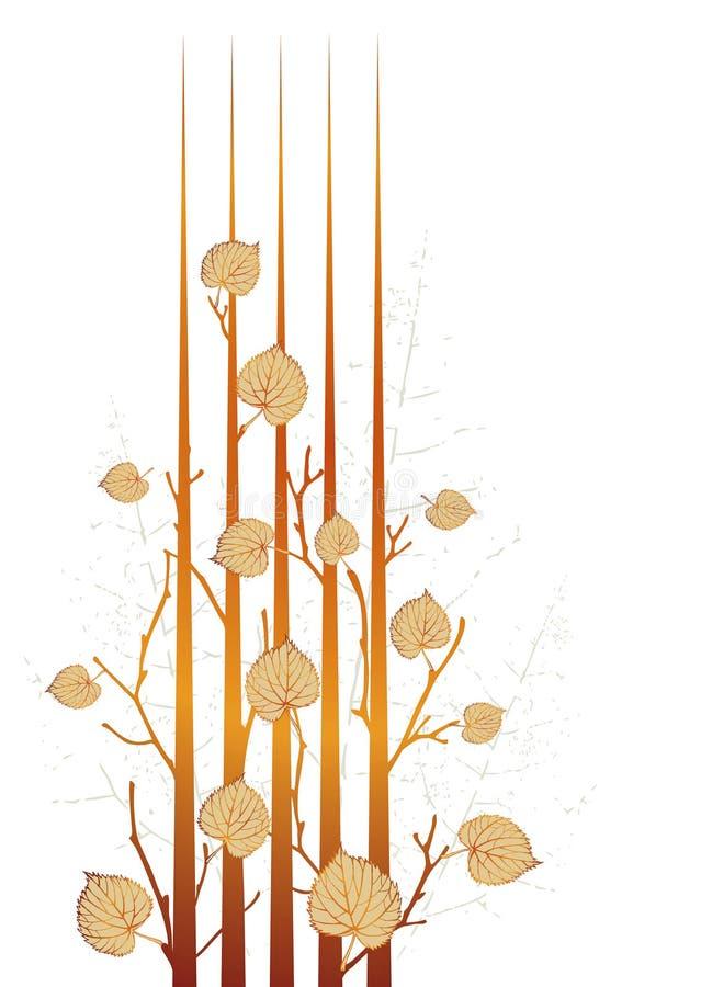 Herbst grunge Blätter lizenzfreie abbildung