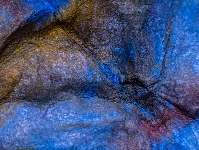 Herbst Hand gezeichnete Malerei Hintergrund der abstrakten Kunst Anstrich auf Segeltuch Farbbeschaffenheit Fragment der Grafik Pi lizenzfreies stockfoto