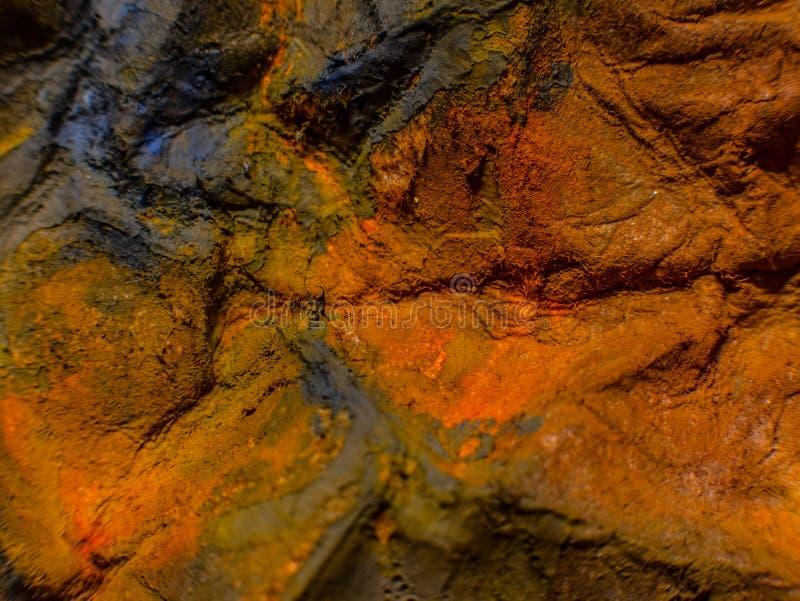 Herbst Hand gezeichnete Malerei Hintergrund der abstrakten Kunst Anstrich auf Segeltuch Farbbeschaffenheit Fragment der Grafik Pi stockbild