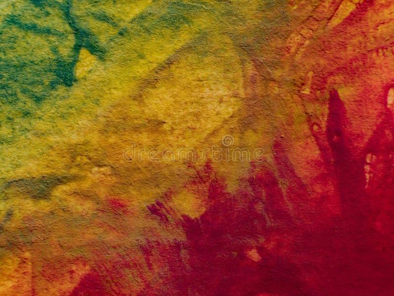 Herbst Hand gezeichnete Malerei Hintergrund der abstrakten Kunst Anstrich auf Segeltuch Farbbeschaffenheit Fragment der Grafik Pi lizenzfreie stockbilder