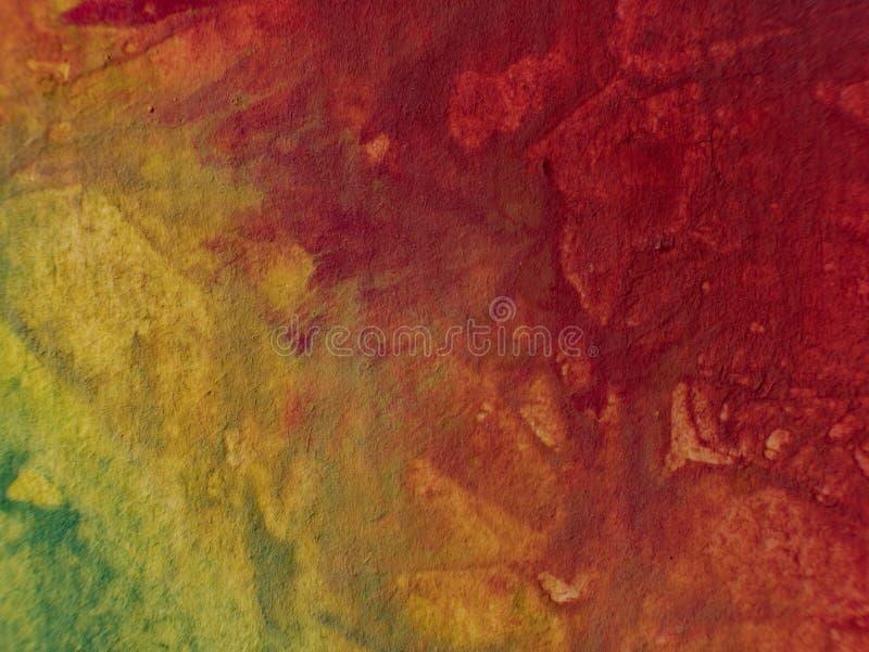 Herbst Hand gezeichnete Malerei Hintergrund der abstrakten Kunst Anstrich auf Segeltuch Farbbeschaffenheit Fragment der Grafik Pi stockfotos
