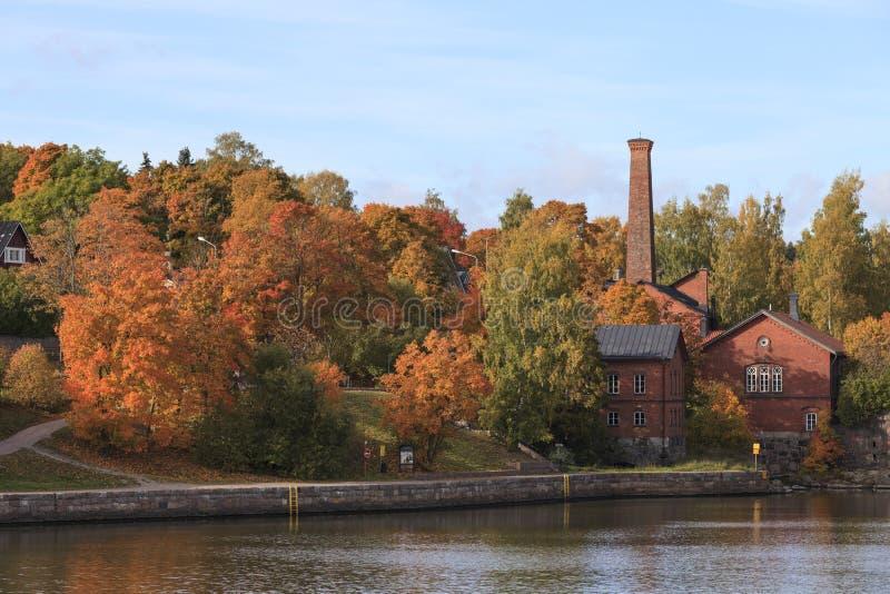 Herbst in Helsinki stockfotografie