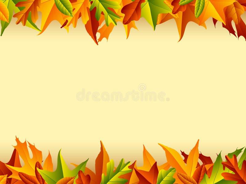 Herbst-Hintergrund stock abbildung