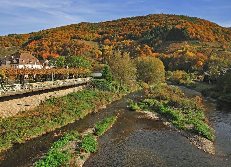 Herbst im Ahr Tal, Deutschland lizenzfreie stockfotos