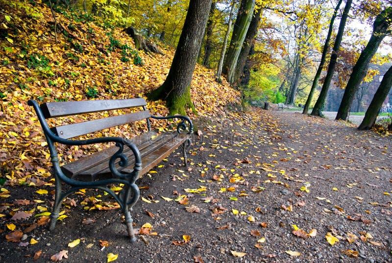 Herbst im Park maksimir in Zagreb stockbild