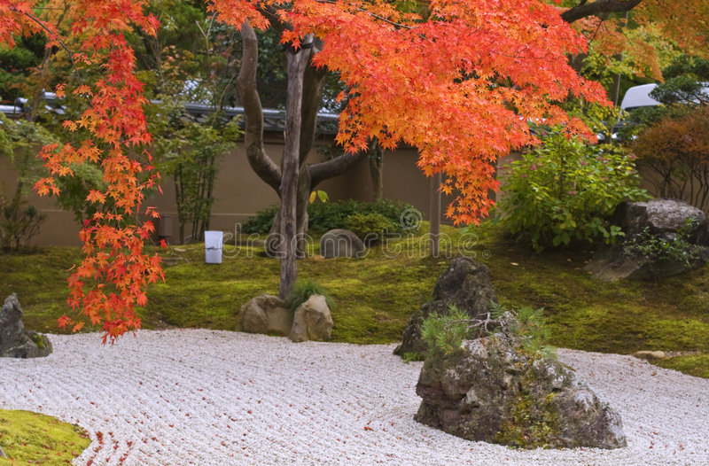 Herbst-Japanergarten stockfotografie