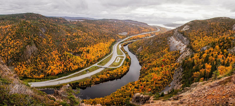 Herbst in Kanada stockbild