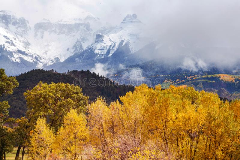 Herbst in Kolorado stockfotografie