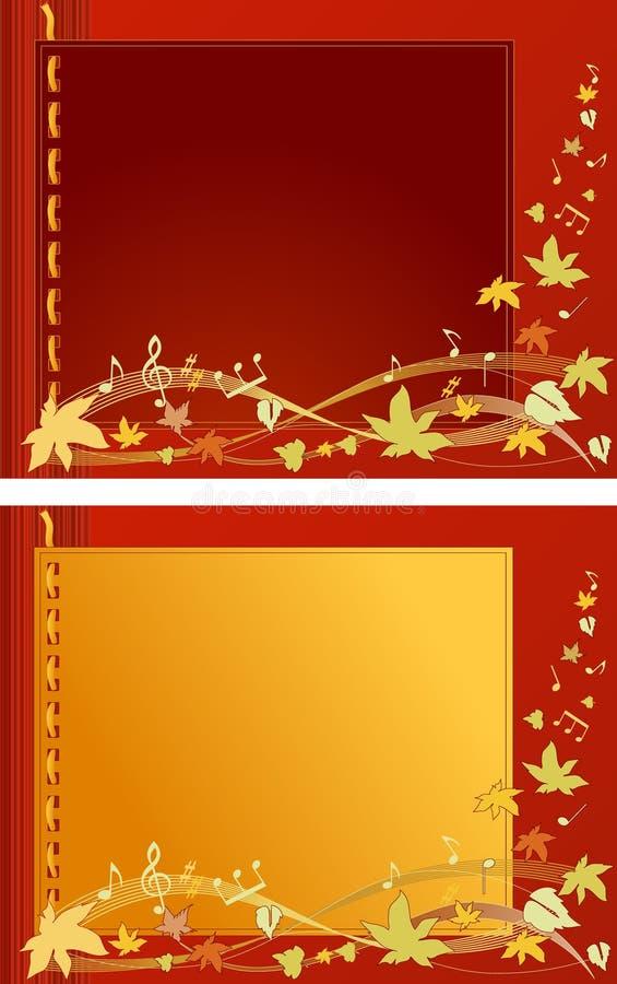 Herbst-Melodien-Vektor lizenzfreie abbildung