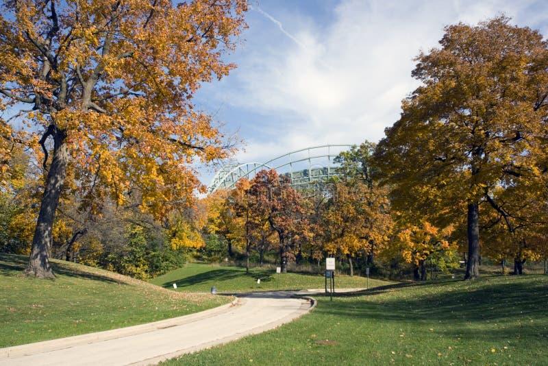 Herbst in Milwaukee lizenzfreies stockfoto