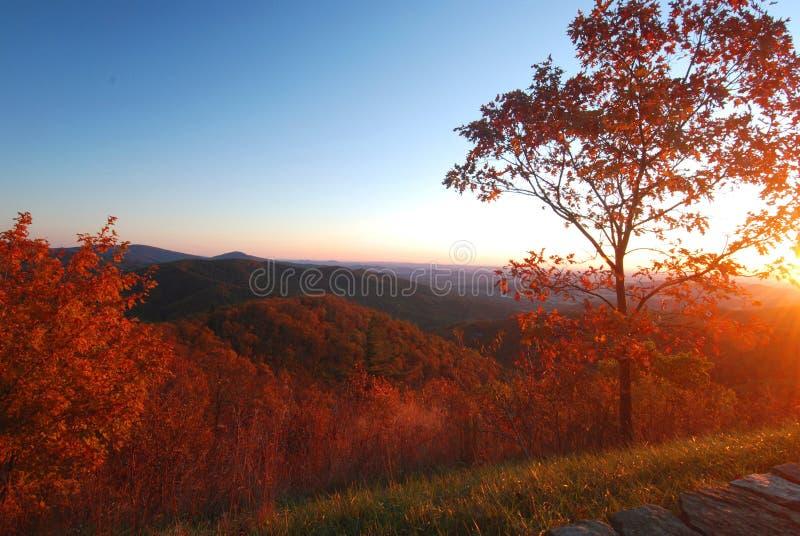 Herbst-Morgen, Shenandoah lizenzfreies stockfoto