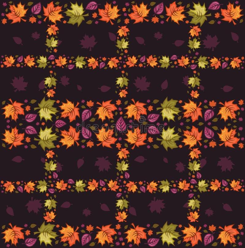 Herbst-nahtloses Muster 3 stock abbildung