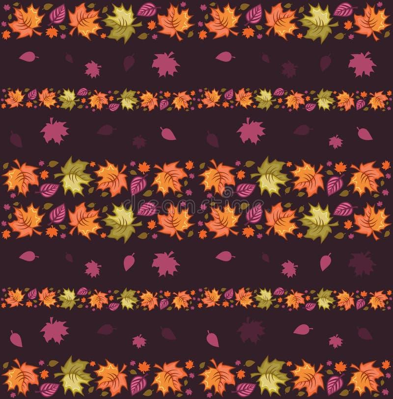 Herbst-nahtloses Muster 4 stock abbildung