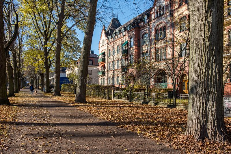 Herbst in Norrkoping, Schweden lizenzfreie stockbilder