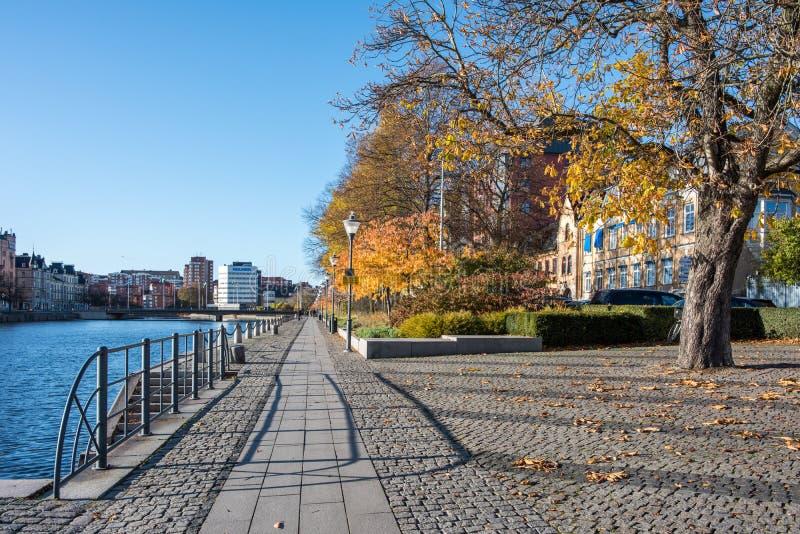 Herbst in Norrkoping, Schweden stockfotos