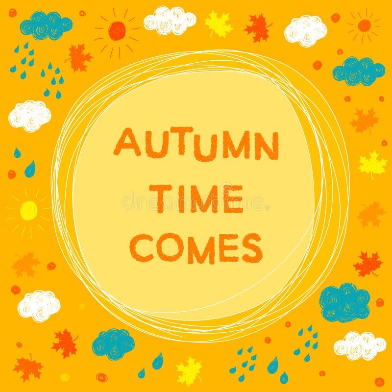 Herbst ob Zeitthema lizenzfreie abbildung