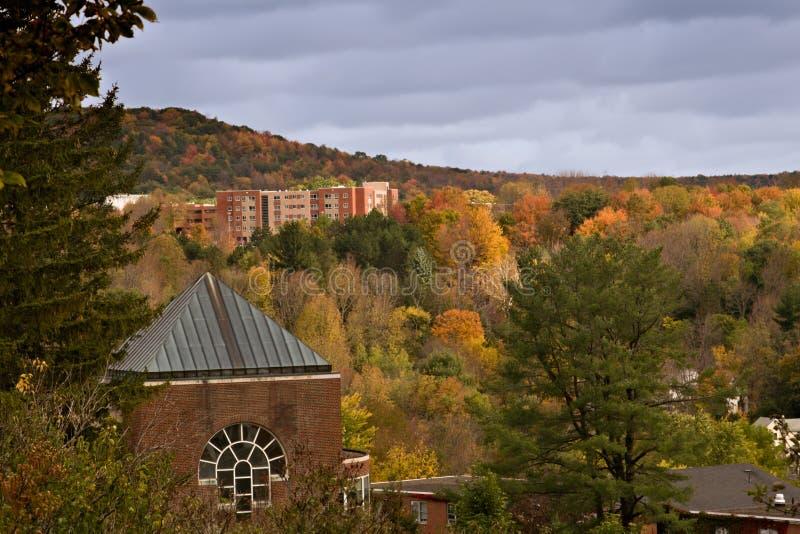 Herbst in Oneonta, New York stockbilder