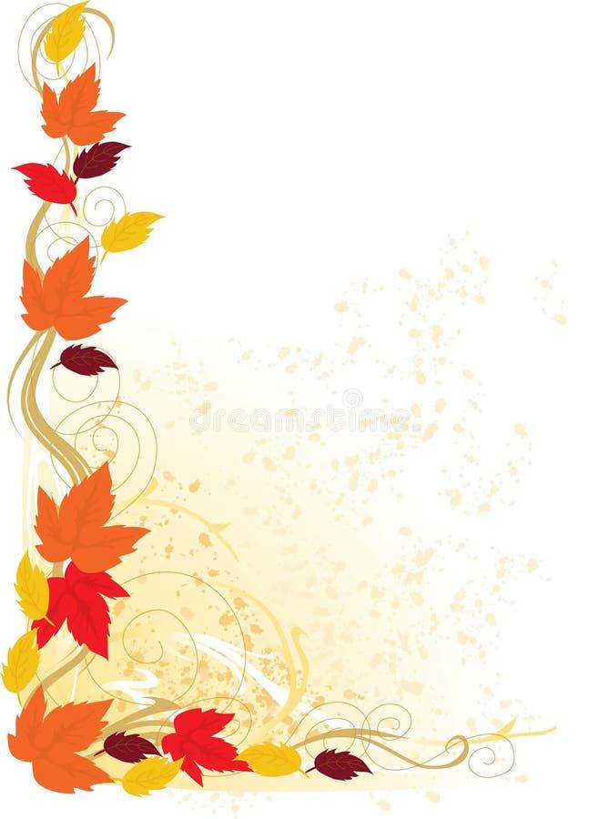 Herbst-Rand vektor abbildung