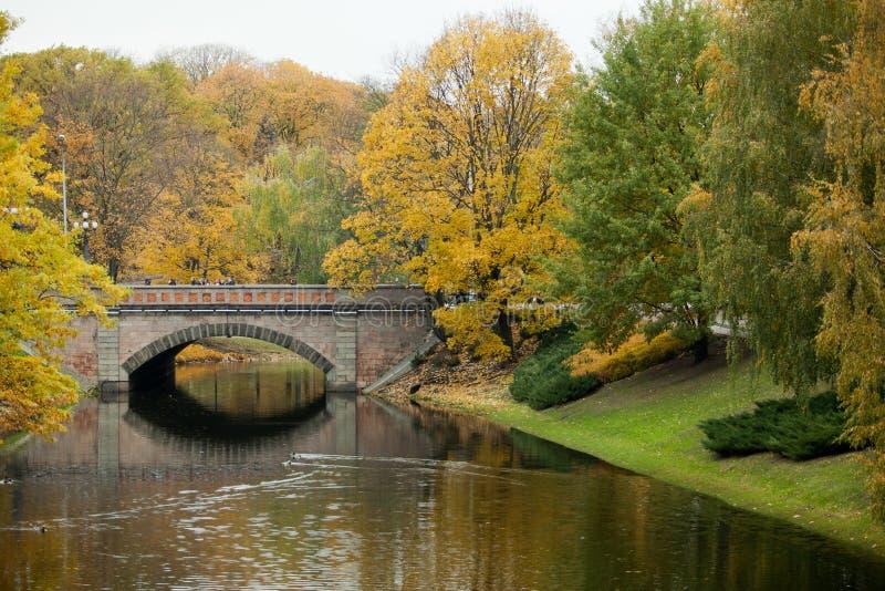 Herbst in Riga-Stadt stockfoto