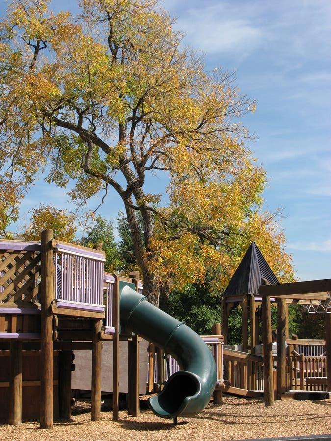 Herbst-Spielplatz lizenzfreie stockbilder