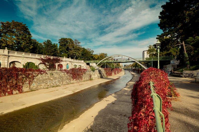 Herbst in Stadtpark - Stadt-Park - Wien lizenzfreies stockfoto